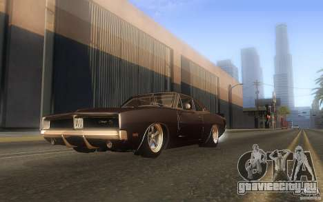 Dodge Charger RT 69 для GTA San Andreas вид сбоку
