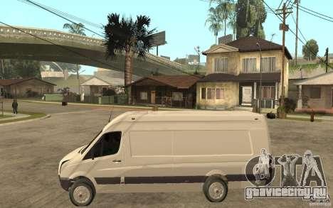 Volkswagen Crafter 2010 TDI для GTA San Andreas вид слева