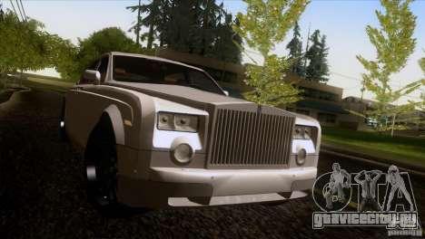 Rolls Royce Phantom Hamann для GTA San Andreas вид снизу
