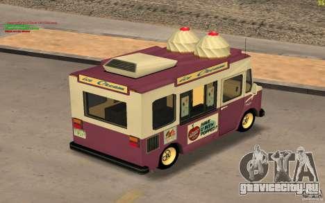 Chevrolet Forvard Control 20 Ice Cream для GTA San Andreas вид справа