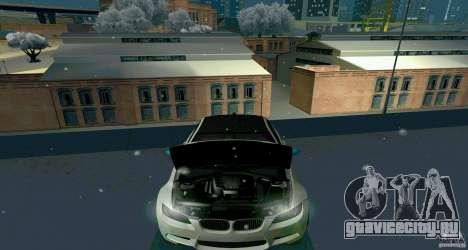 BMW E92 для GTA San Andreas вид сзади