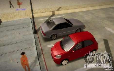 Nissan Micra 2011 для GTA San Andreas вид сзади слева
