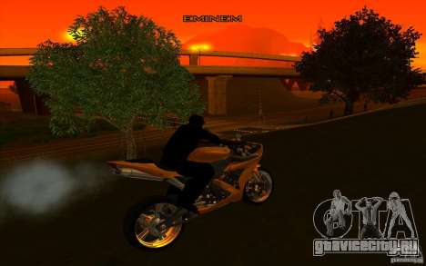 Yamaha YZF R1 Tuning Version для GTA San Andreas вид изнутри