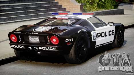 Ford GT1000 Hennessey Police 2006 [EPM][ELS] для GTA 4 вид сбоку