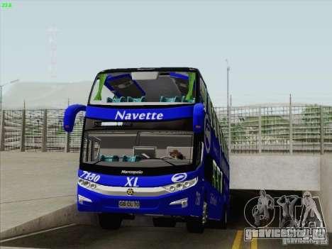 Marcopolo Paradiso 1800 DD Navette XL Coomotor для GTA San Andreas вид сбоку