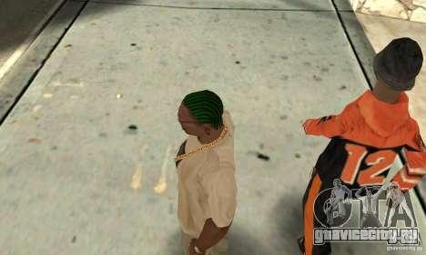 Зеленый корнроу для GTA San Andreas третий скриншот