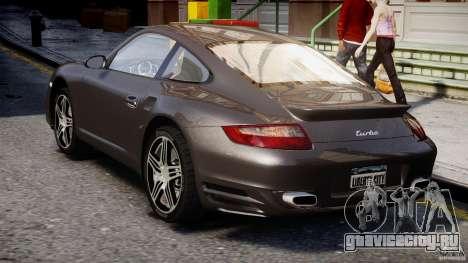 Porsche 911 Turbo для GTA 4 вид справа