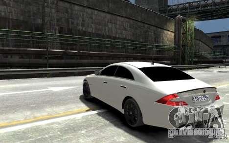 Mercedes Benz CLS Brabus Rocket 2008 для GTA 4 вид сзади слева
