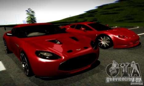 Aston Martin V12 Zagato Final для GTA San Andreas вид справа