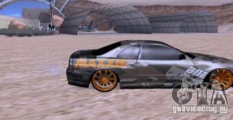 Nissan Skyline GTR34 MAXXIS для GTA San Andreas вид справа