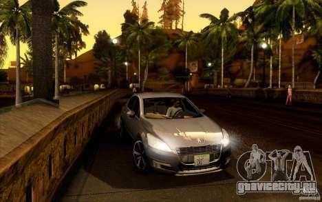 Peugeot 508 2011 для GTA San Andreas вид сзади слева