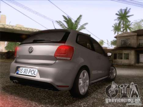 Volkswagen Polo GTI 2011 для GTA San Andreas вид сзади слева