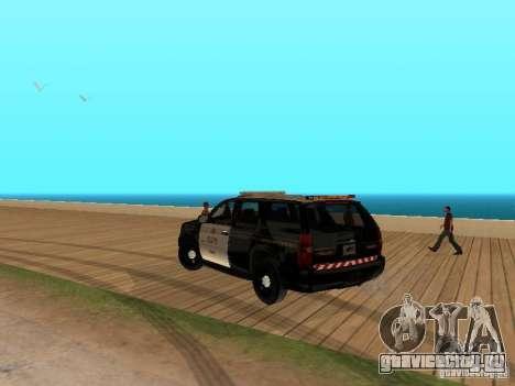 Chevrolet Tahoe Ontario Highway Police для GTA San Andreas вид сзади слева