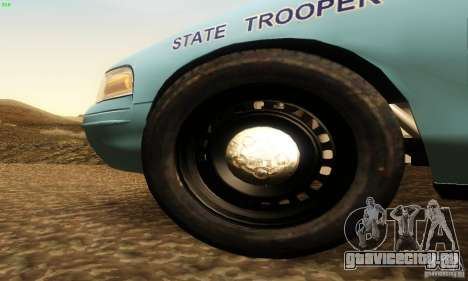 Ford Crown Victoria Maine Police для GTA San Andreas вид справа