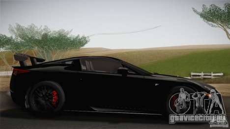 Lexus LFA Nürburgring Performance Package 2011 для GTA San Andreas вид слева