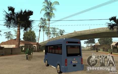 Karsan J10 для GTA San Andreas вид сзади слева