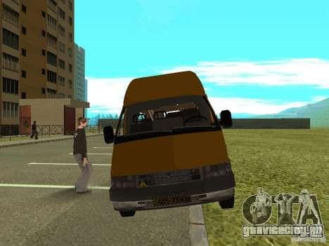 ГАЗ СПВ Рута-16 для GTA San Andreas вид сзади слева