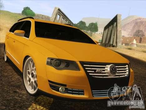 Volkswagen Passat B6 Variant для GTA San Andreas вид сзади слева