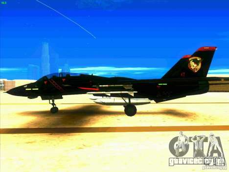F-14 Tomcat Razgriz для GTA San Andreas вид слева