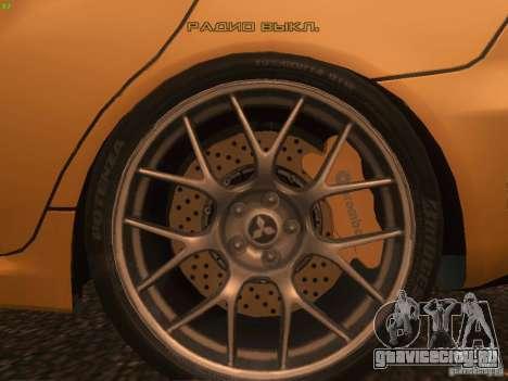 Mitsubishi  Lancer Evo X BMS Edition для GTA San Andreas салон