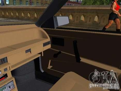Ваз 2109 Спутник для GTA San Andreas вид изнутри