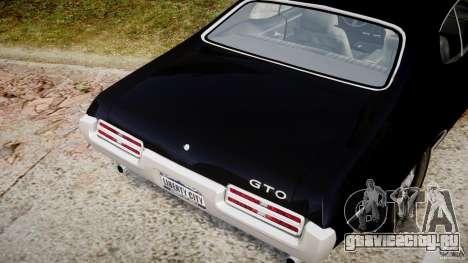 Pontiac GTO Judge для GTA 4 вид сверху