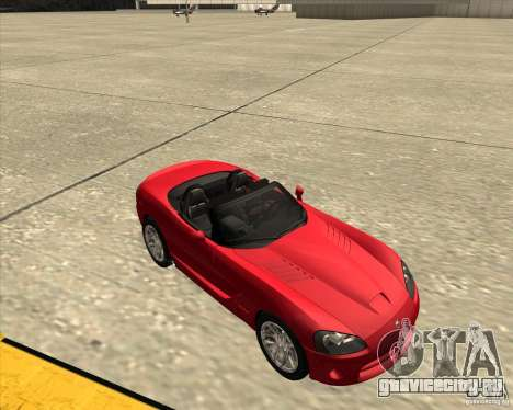 Dodge Viper SRT-10 Roadster для GTA San Andreas вид изнутри