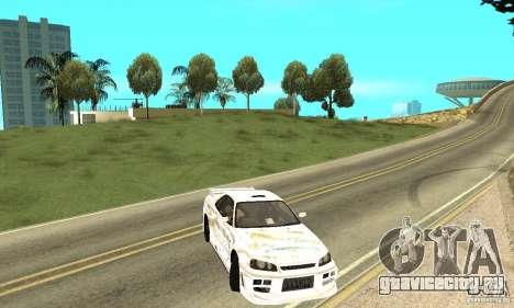 Nissan SkyLine R34 Tunable V2 для GTA San Andreas вид сбоку