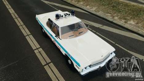 Dodge Monaco 1974 Police v1.0 [ELS] для GTA 4 вид снизу