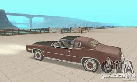 Cadillac Eldorado Biarritz 1978 для GTA San Andreas вид сзади