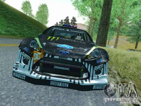 Ford Fiesta Ken Block Dirt 3 для GTA San Andreas вид слева