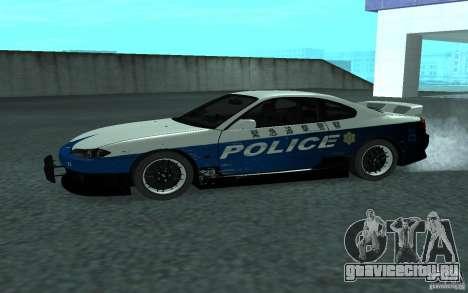 Nissan Silvia S15 Police для GTA San Andreas вид слева