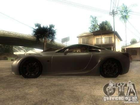 Lexus LFA Custom для GTA San Andreas вид слева