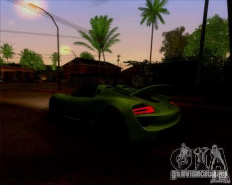 Porsche 918 Spyder Concept Study для GTA San Andreas вид сзади