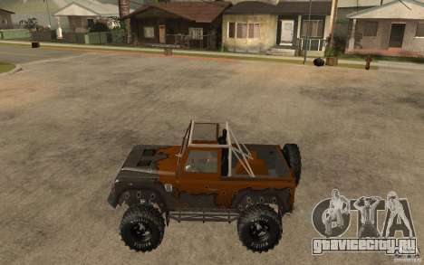 Land Rover Defender Extreme Off-Road для GTA San Andreas вид слева