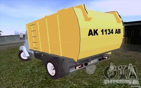 ЗиЛ 4331 Мусоровоз для GTA San Andreas вид справа