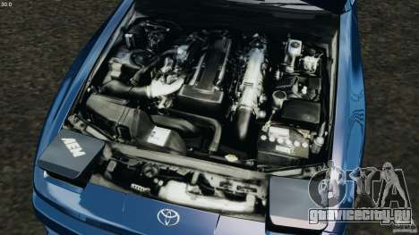 Toyota Supra 3.0 Turbo MK3 1992 v1.0 для GTA 4 вид сверху
