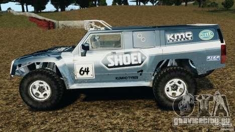Hummer H3 raid t1 для GTA 4 вид слева