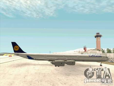 Airbus A-340-600 Lufthansa для GTA San Andreas вид слева