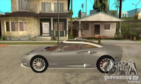 Spyker C8 Aileron для GTA San Andreas вид слева
