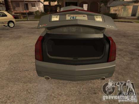 Cadillac CTS-V для GTA San Andreas вид сзади