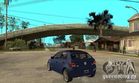 Volkswagen Gol Trend 1.6 для GTA San Andreas вид сзади слева