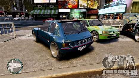 Peugeot 205 для GTA 4 вид слева