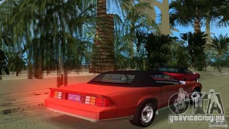 Chevrolet Camaro Convertible 1986 для GTA Vice City вид слева