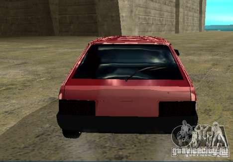 Ваз 2109 chrome для GTA San Andreas вид сзади слева