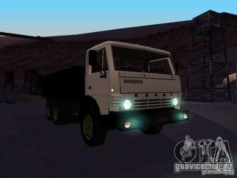 КАМАЗ 53212 бортовой для GTA San Andreas вид сзади