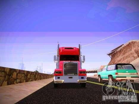 Freightliner FLD 120 для GTA San Andreas вид изнутри