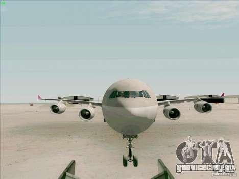 Airbus A-340-600 Quatar для GTA San Andreas вид изнутри