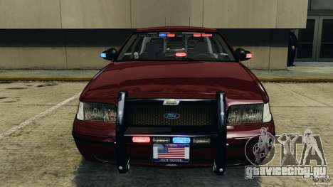 Ford Crown Victoria Police Unit [ELS] для GTA 4 вид снизу