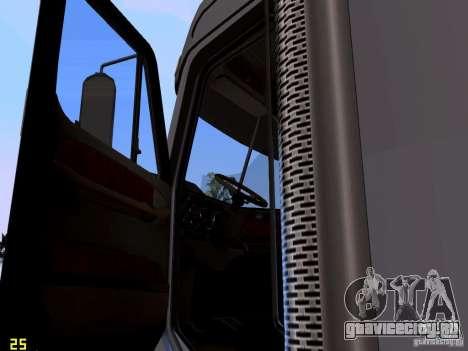 Freightliner Coronado для GTA San Andreas вид изнутри